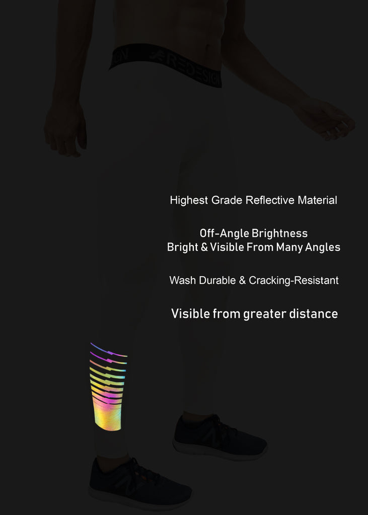 ReDesign Nylon Multi-Color Reflective Compression Pant (Light Grey)