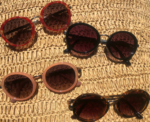 Retro Round Sunglasses-with metal frames