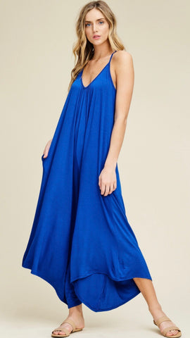 Delilah Jumpsuit in Blue