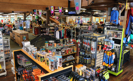 Ski Haus' variety of outdoor gear and products