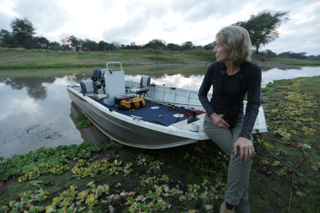 Croc research boat – Urema River