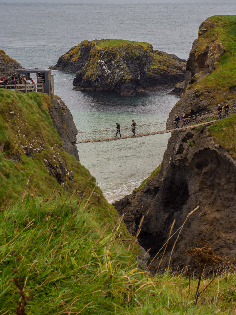Taking a walk together across the Carrick-A-Rede Rope Bridge.