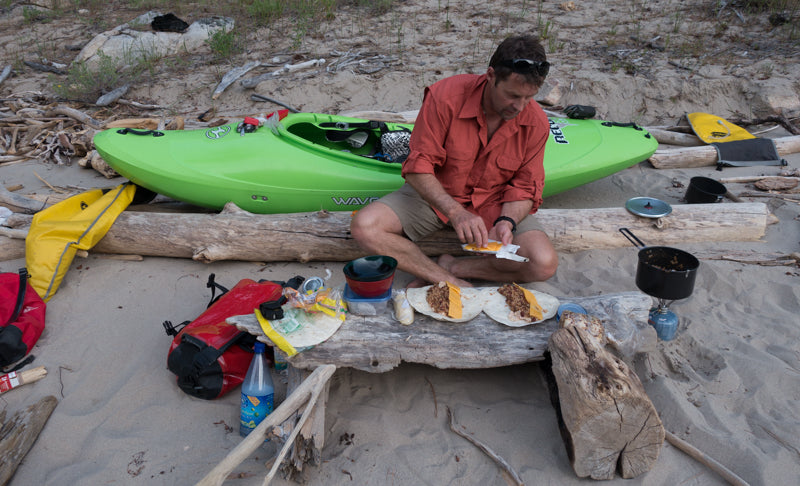"""At the end of a day of challenging white water, no meal in the history of culinary delights will ever compare to a """"Moffatt burrito"""" served Frank Church Wilderness-style."""
