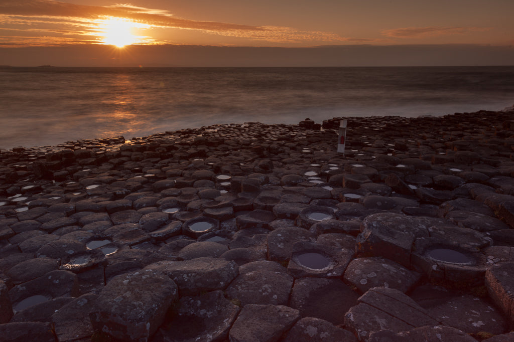 A sunrise from the Giants's Causeway.