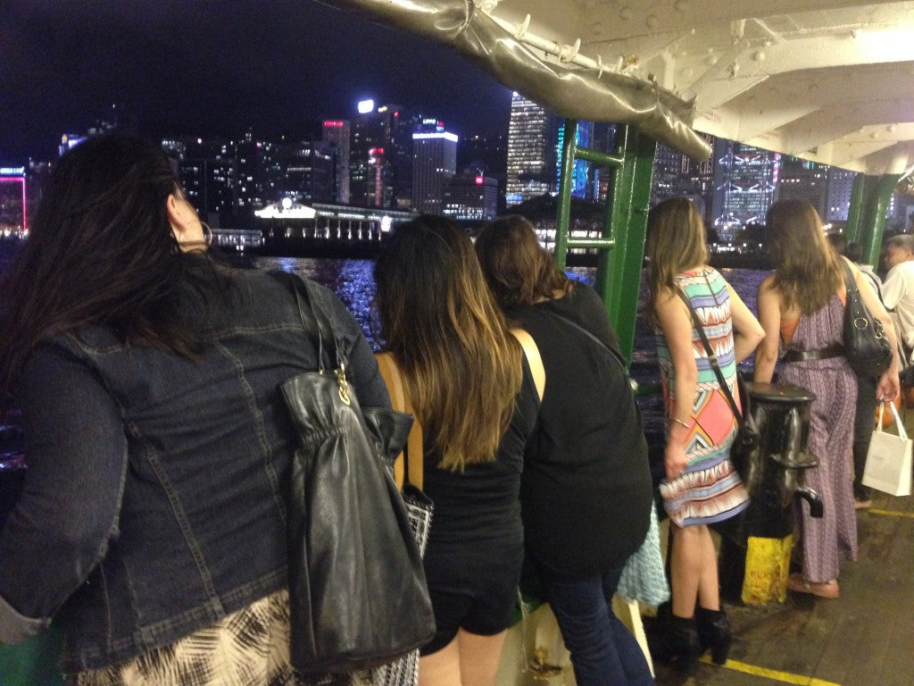 One of the best views of the harbor is from the Star Ferry
