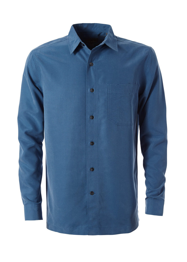 Dark Blue Men's Desert Pucker Dry Long Sleeve Shirt Men's Desert Pucker Dry Long Sleeve Shirt