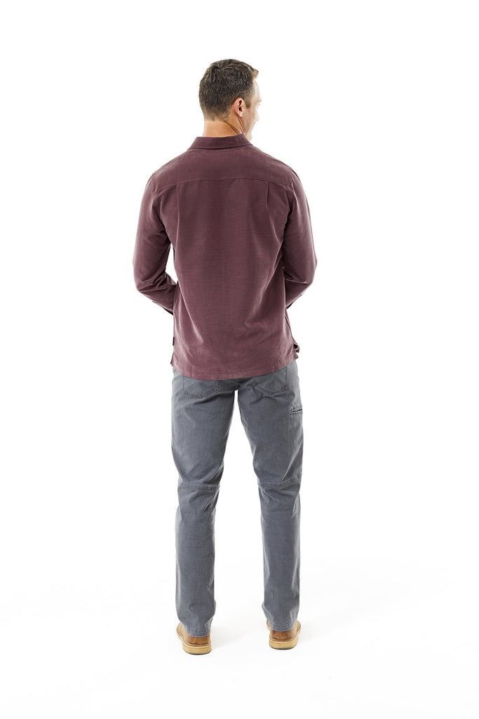 Back pleats for expanded range of motion Men's Desert Pucker Dry Long Sleeve Shirt