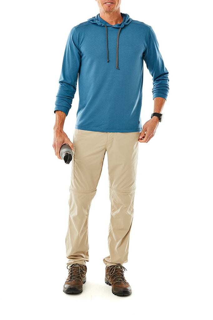 Men's Bug Barrier™  Round Trip Drirelease® Hoody Long Sleeve On Model Men's Bug Barrier™  Round Trip Drirelease® Hoody Long Sleeve