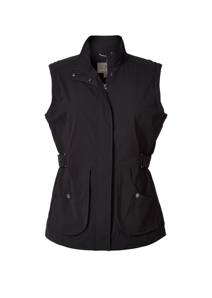 Women's Discovery Convertible Jacket in Jet Black with sleeves removed Women's Discovery Convertible Jacket