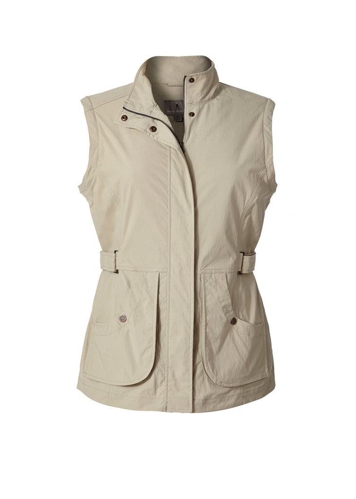 Women's Discovery Convertible Jacket in Sandstone with sleeves removed Women's Discovery Convertible Jacket