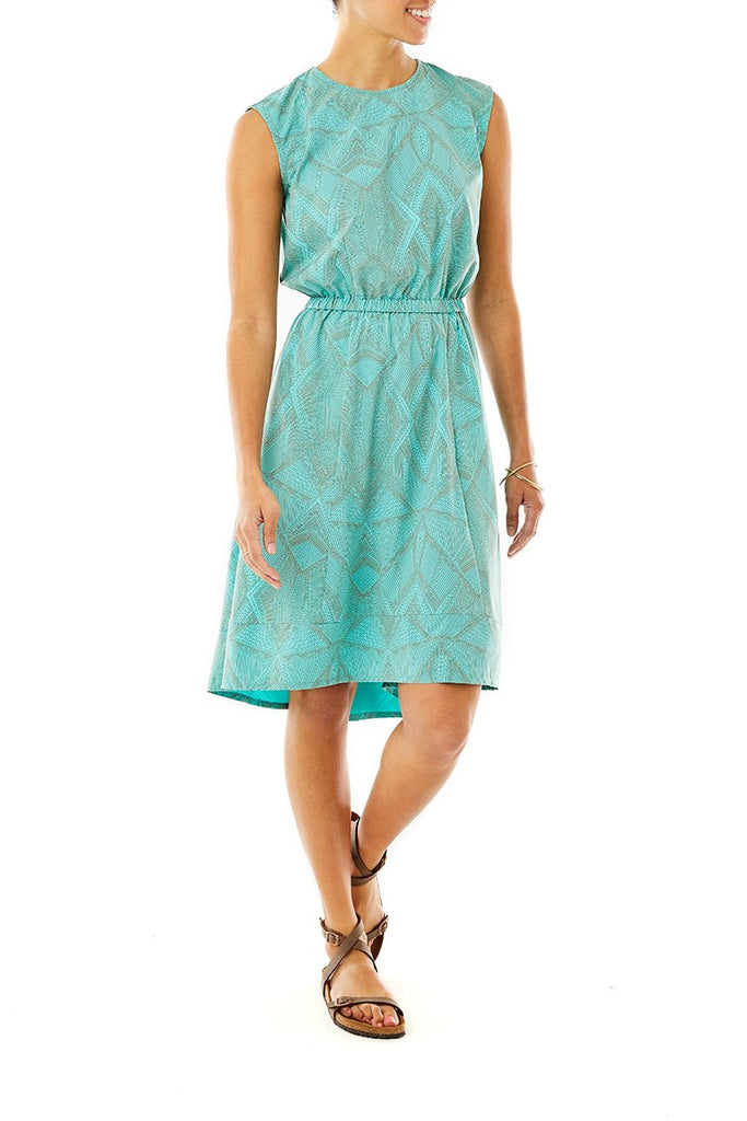 Women's Spotless Traveler Dress On Model Women's Spotless Traveler Dress