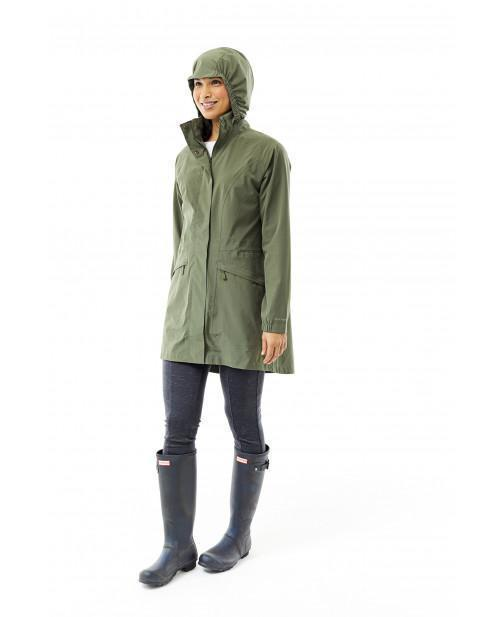 Adjustable hood with ability to tuck in zip closure collar Women's Oakham Trench