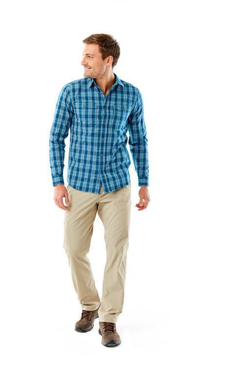 Breathable shirt. Great for high heat and humidity Men's Vista Dry Plaid Long Sleeve