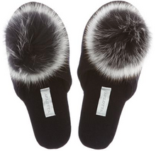 Load image into Gallery viewer, # 6011P- Cashmere Slide With Genuine Fox Pom Pom