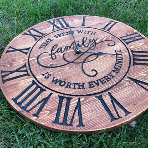 Engraved Giant Wall Clock
