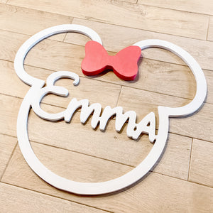 Minnie Mouse Name Sign