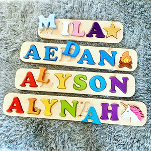 Personalized Wood Name Puzzles