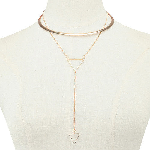 TRIANGLE SHAPE CHOKER hálsmen