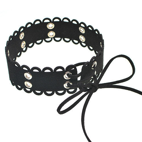 CUTOUT LACE UP CHOKER hálsmen