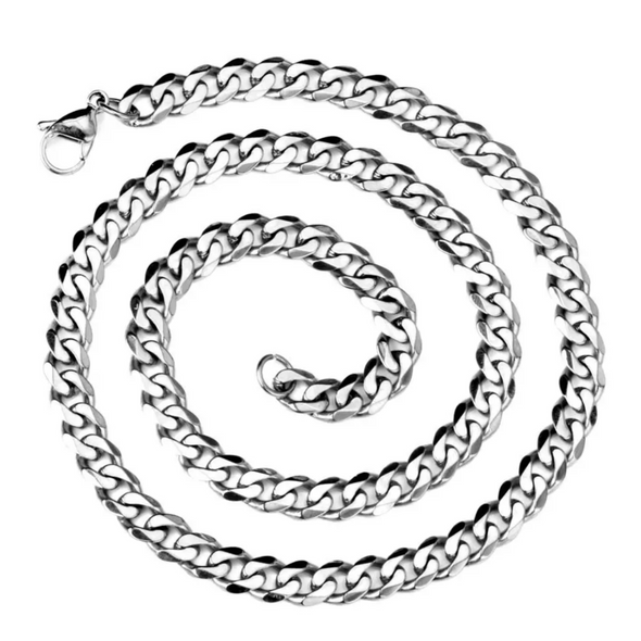"Ice City Mens Miami Cuban Link Chain Sterling Silver 8 mm 20""-24"""