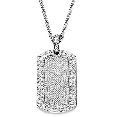 Ice City Men Full Dog Tag Pendant Franco Necklace Chain Men Jewelry