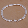 Ice City Noble 925 Solid Silver Plated Men Womens Fashion Bracelet 10mm Square