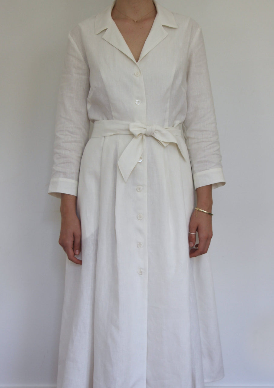 Shirt Dress in White - ON SALE