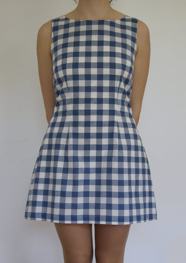 Shift Dress in Check