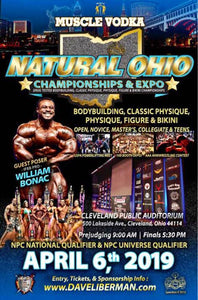 2019 NPC Natural Ohio April 6 Cleveland , OH