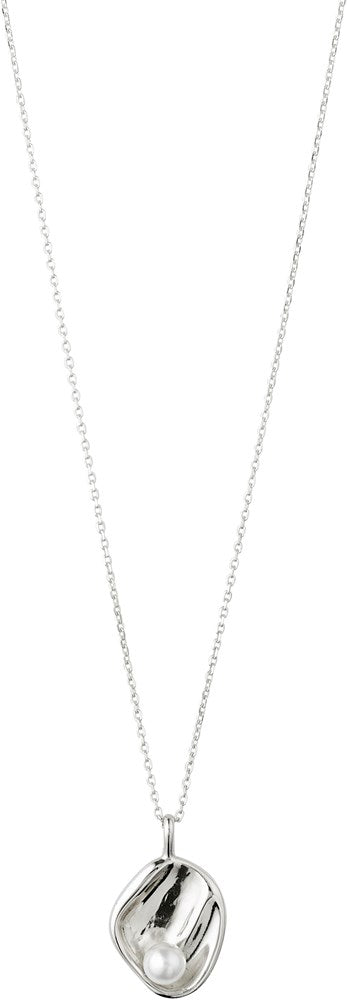 Warmth Necklace - White - Silver Plated