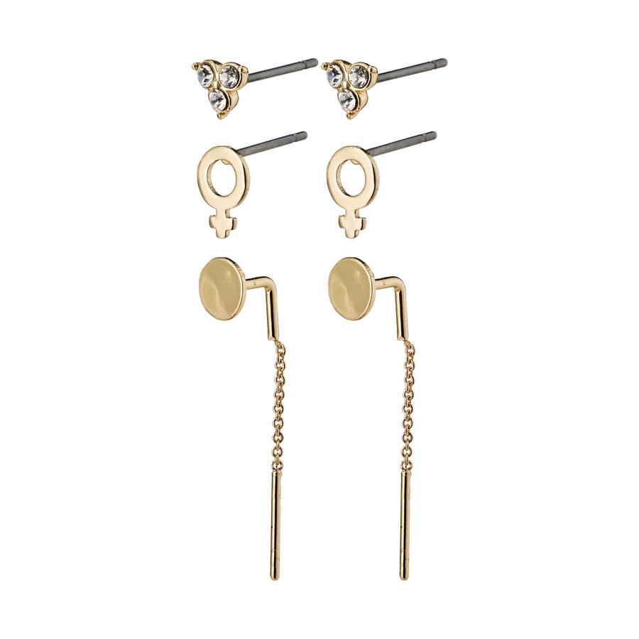 Malak Earrings - Crystal - Gold Plated