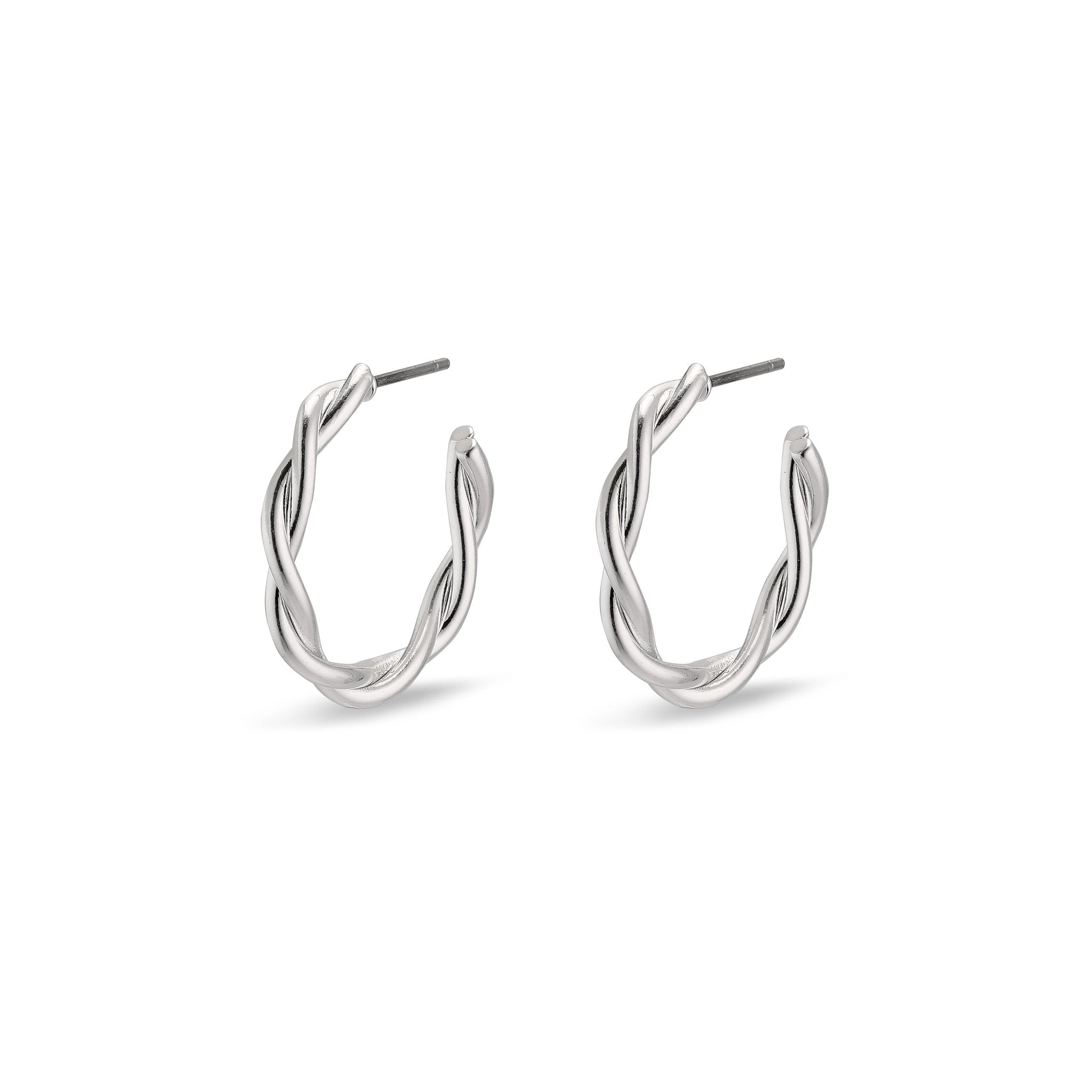 Naja Pi Hoops - Silver Plated - Small