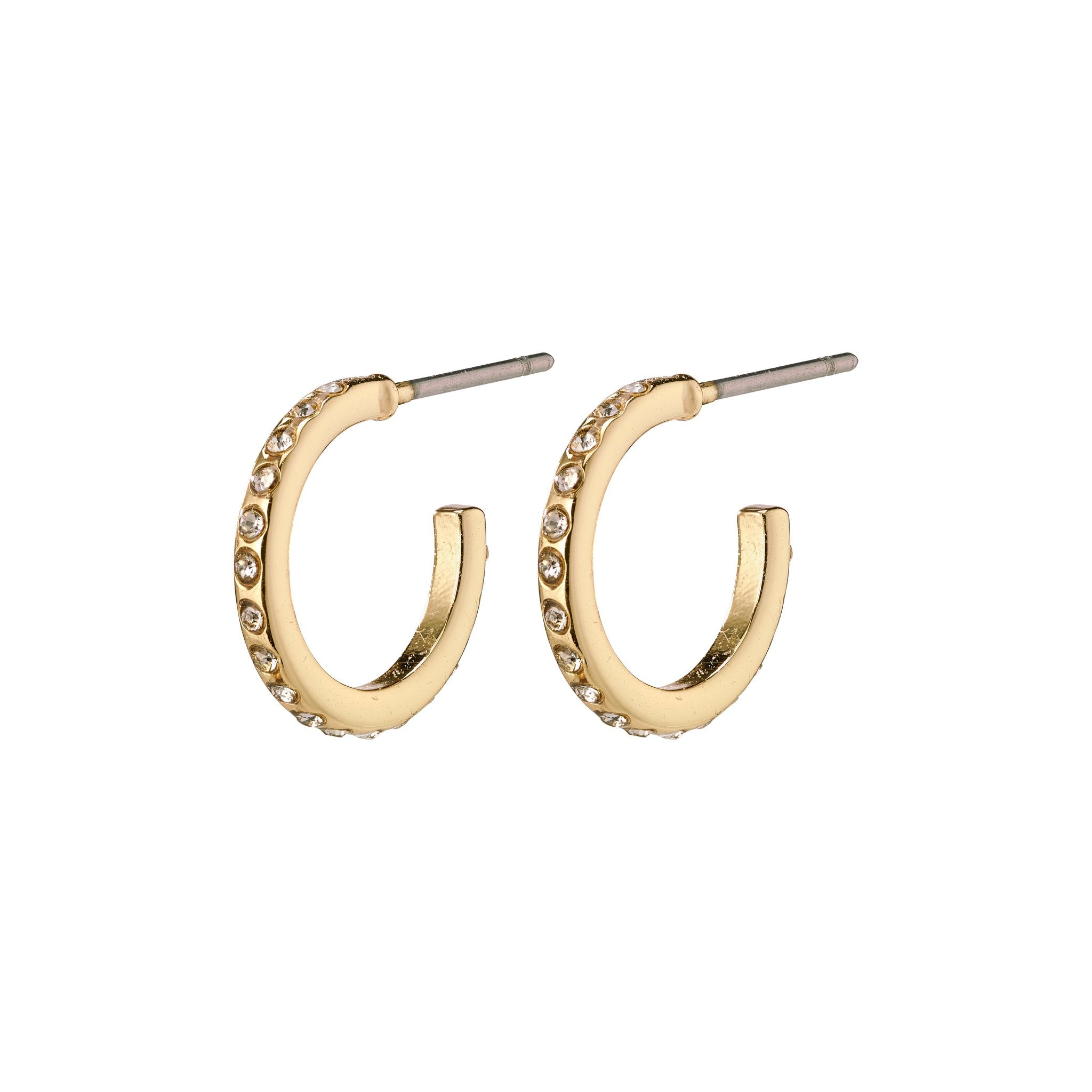 Roberta Pi Earrings - Gold Plated Crystal - 12mm
