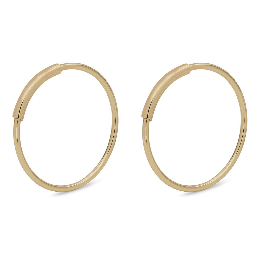 Raquel Pi Hoops - Gold Plated 18mm