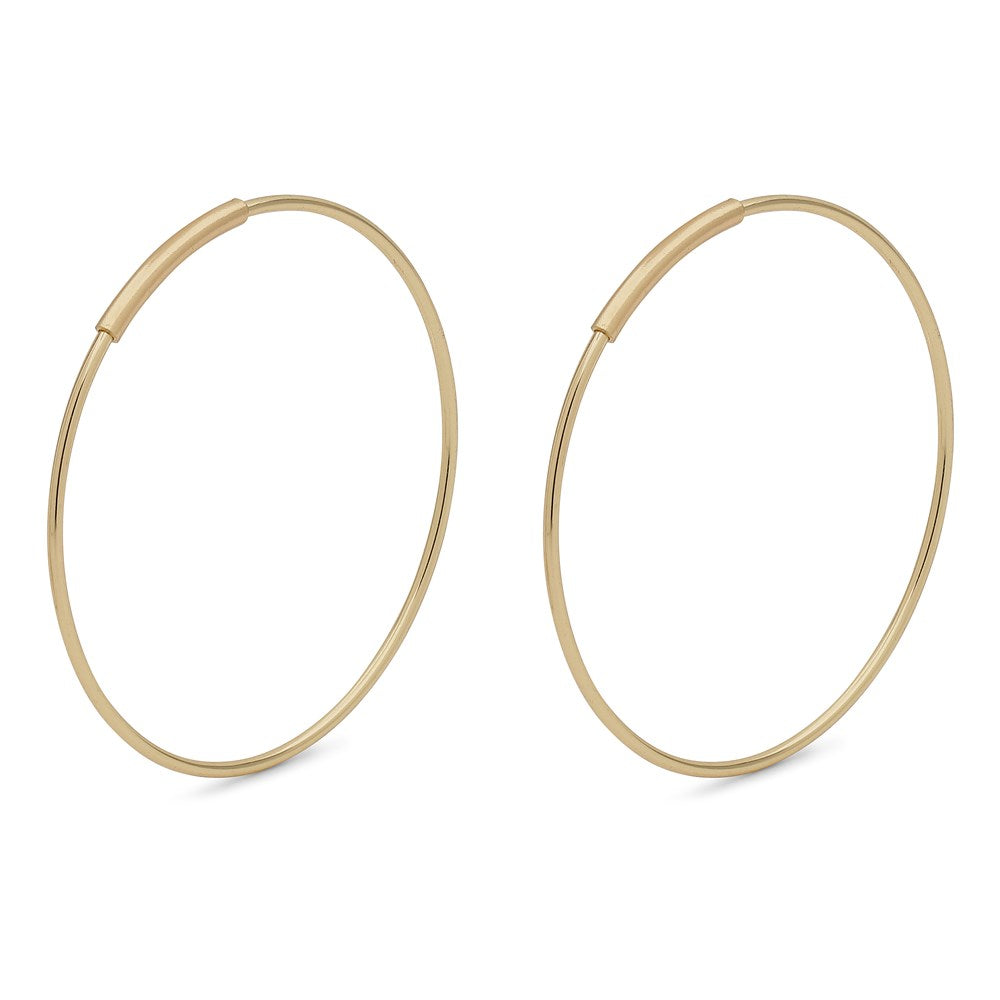 Raquel Pi Hoops - Gold Plated 25mm