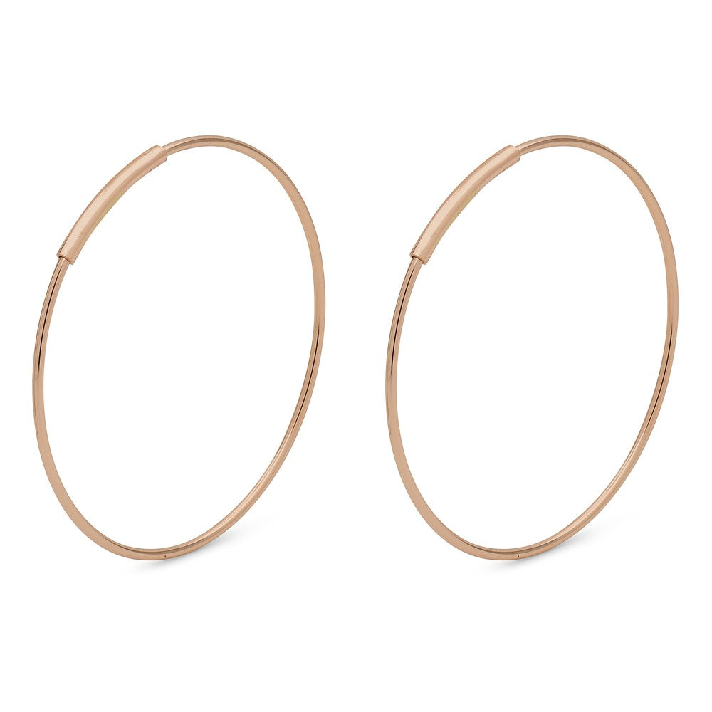 Raquel Pi Hoops - Rose Gold Plated 25mm