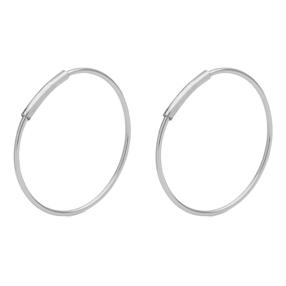 Raquel Pi Hoops - Silver Plated 18mm