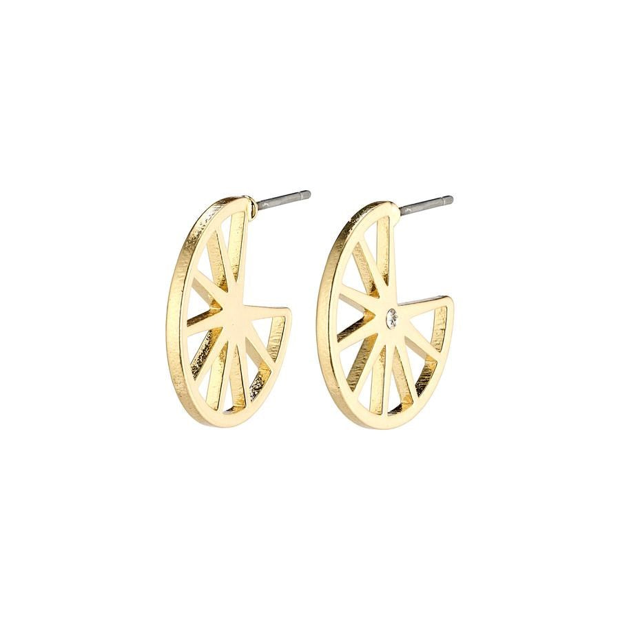 Kaylee Earrings - Gold Plated - Crystal