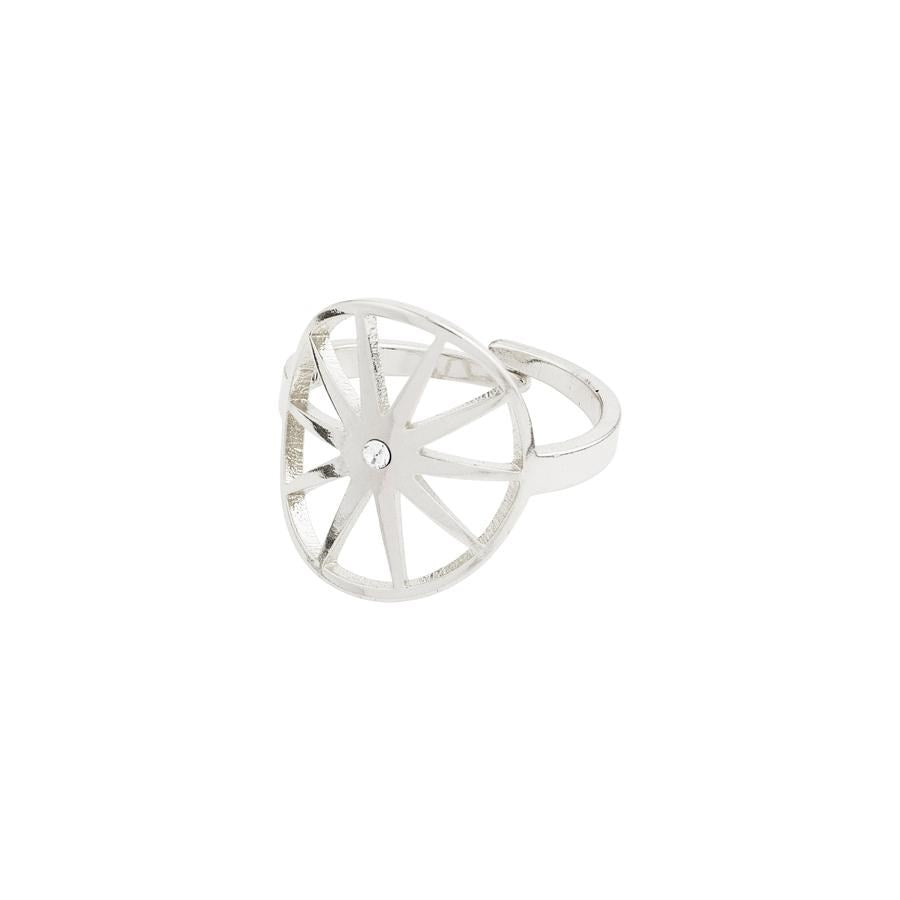 Kaylee Ring - Silver Plated - Crystal