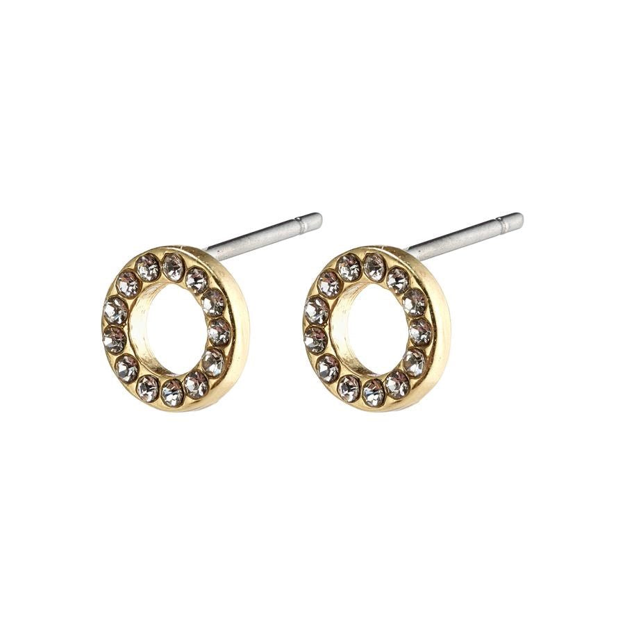 Tessa Earrings - Gold Plated - Crystal