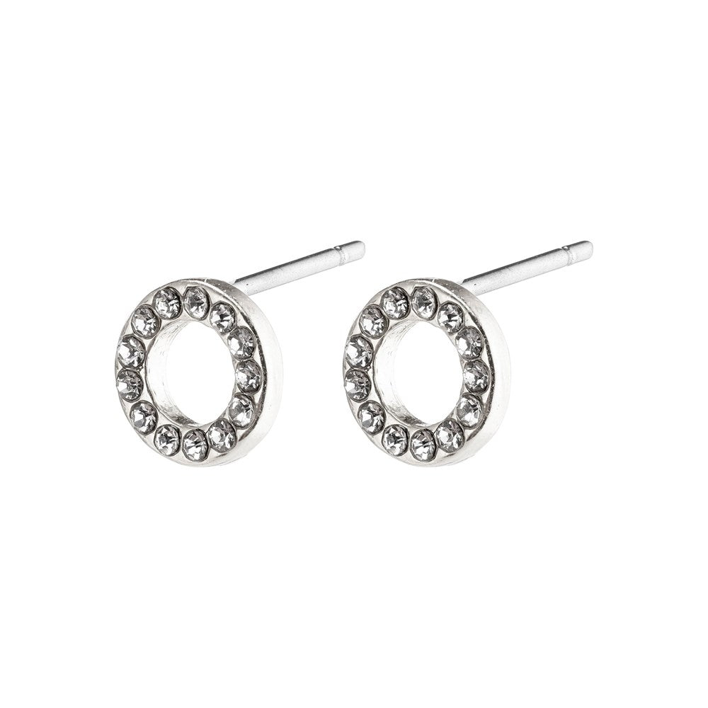 Tessa Earrings - Silver Plated - Crystal