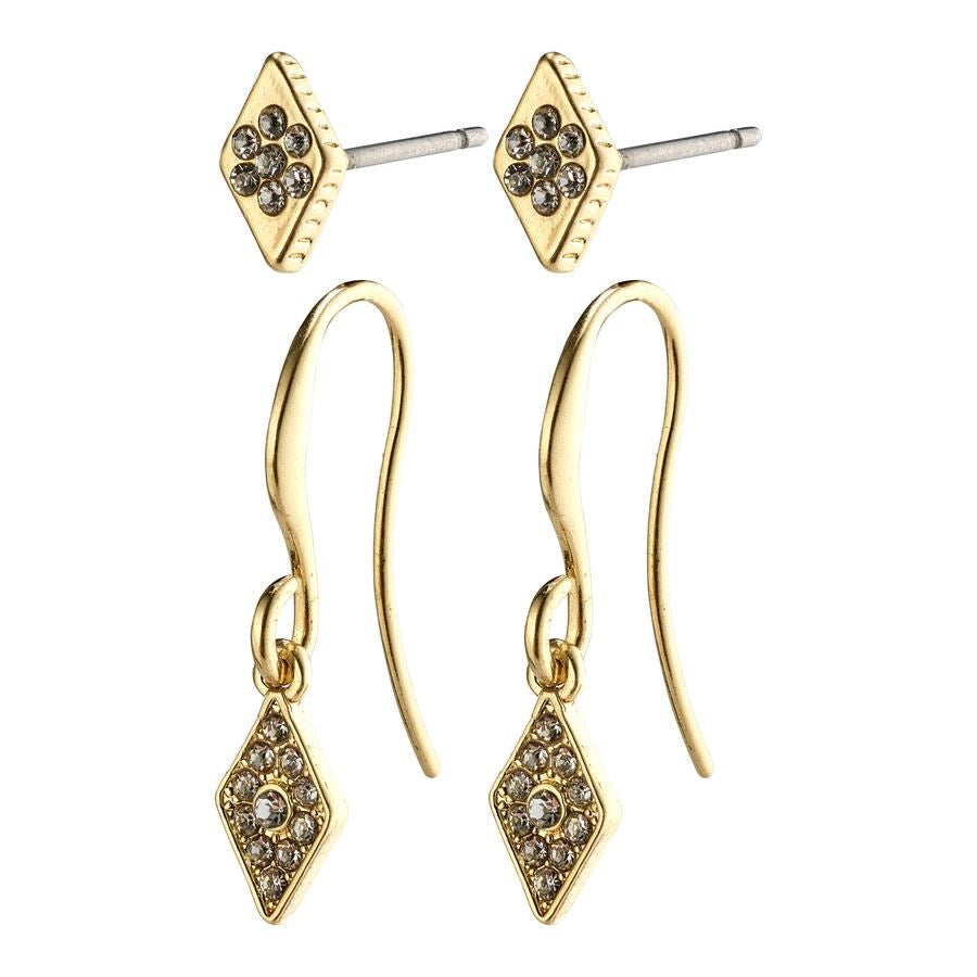 Reyna Earrings - Gold Plated - Crystal