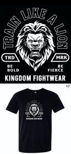 """Train Like A Lion"" Premium Youth T-shirt - Kingdom Fightwear"