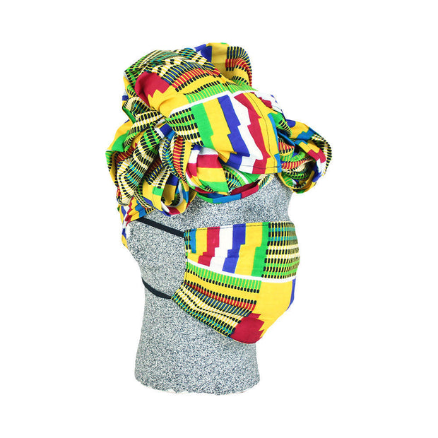 Afrocentric Headwrap & Mask Set