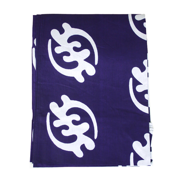 Purple & White African Print Headwrap