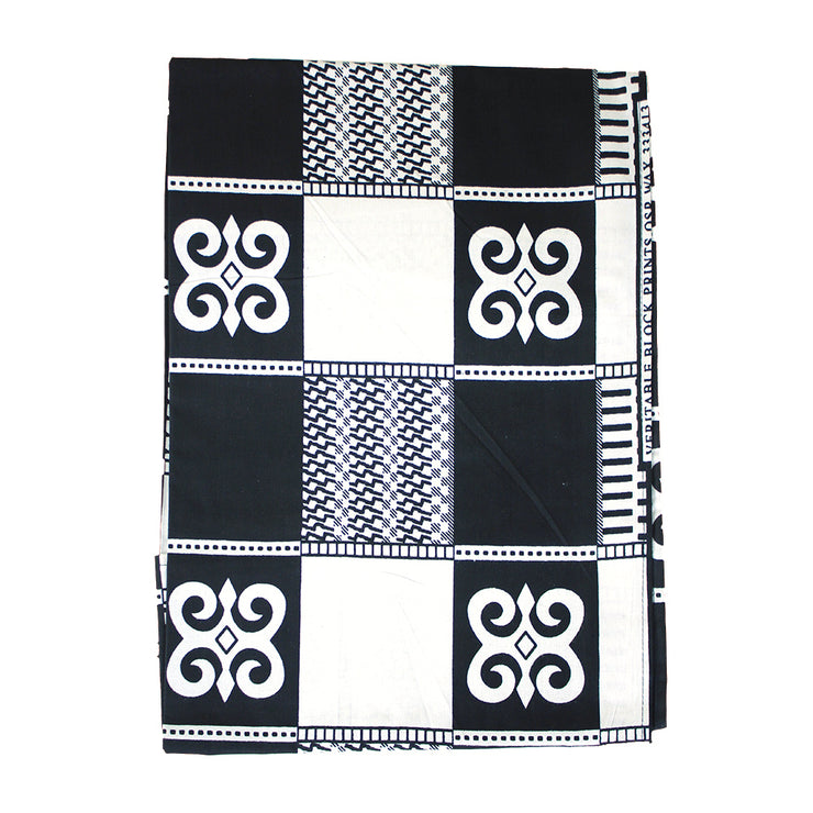 Black & White African Print Headwrap