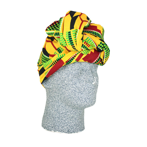 Large Kente African Print Headwrap