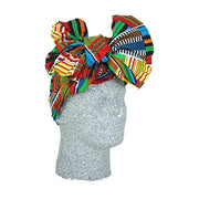 Blue/Green Kente African Print Headwrap