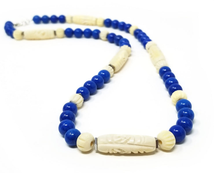 Blue Agate Chonga Necklace