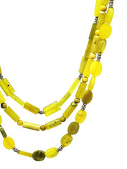 new olive jade green gemstone statement necklace for women